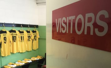 Bromley Football Club - The away dressing room at Woking