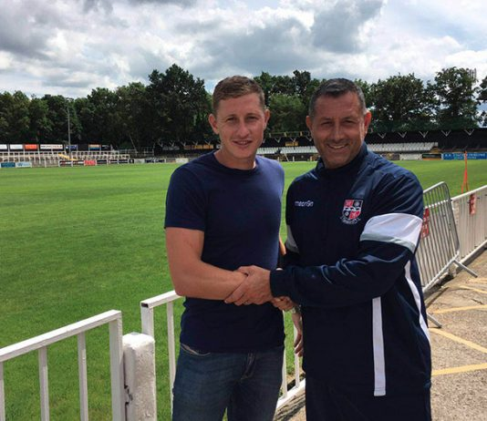 David Martin pictured with Neil Smith - Image copyright www.bromleyfc.co.uk